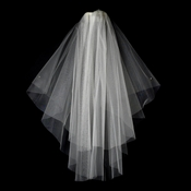 "VSH C F White - *Shimmer Veiling* Cut Edge Fingertip Length (30"" x 36"" long)"