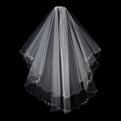"Veil 1436 F - 2 Layer Bridal Veil Fingertip (29"" x 34"" long)"
