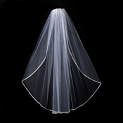"Bridal Wedding Veil 1527 1E - Single Layer Elbow Length  (32"" long x 71"" wide)"