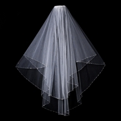 "Bridal Wedding Veil 1531F - Double Layer, Fingertip (Length 29"" x 34"" long x 54"" wide)"