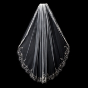 "Single Layer Elbow Length Fingertip Length (36"" long x 54"" wide) or Cathedral Length (108"" long) Veil 1568"