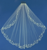 Bridal Wedding Veil Elbow Single Layer Veil 1086 1E