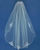 "Bridal Wedding Veil Single Layer Fingertip (36"" l x 72"" w) Veil 3336"