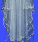 Veil 139 Crystal Beaded Veil