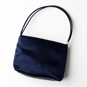 * Darling Navy Satin Evening Bag w/ Rhinestone Adornment 203***Discontinued***