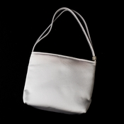 * Darling White Satin Evening Bag w/ Rhinestone Adornment 203***Discontinued***