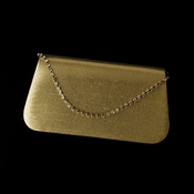 * Elegant Gold Satin Silk & Clear Rhinestone Evening Bag 206 **Discontinued**