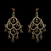 * Gold Brown Earring 20476