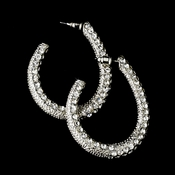 * Silver Clear Hoop Earring Set 8542