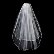 "2 Tier 30"" and 36"" Fingertip Ratail Edge Bridal Veil (VR F)"