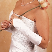 Floral Fingerless Bridal Gloves GL 215 8 E