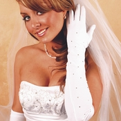 Rhinestone Bridal Gloves GL2231-12A