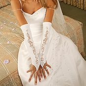 Designer Fingerless Bridal Glove GL 9130 A