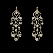 * Earring 8274 Gold Clear