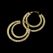 * Earring 1114 Gold Clear
