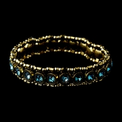 Gold Aqua Stretch Bracelet 8517
