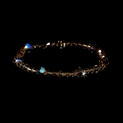 * Light Colorado Swarovski Crystal Stretch Bracelet B 239