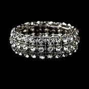 Radiant Silver Clear Stretch Bracelet B 925