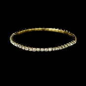 Charming Gold Silver Rhinestone Stretch Bracelet 8011