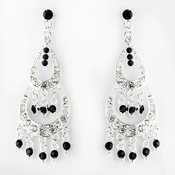 * Earring 804 Silver Black