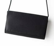 Fabulous Black Satin Evening Bag 0055