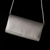 Fabulous Metallic Silver Satin Evening Bag 0055 ** 1 Left **