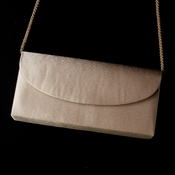 * Wonderful Champagne Satin Evening Bag 214