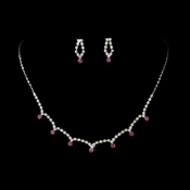 * Necklace Earring Set 325 Fuchsia