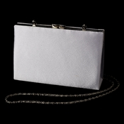 Stunning Silver Satin Evening Bag 218