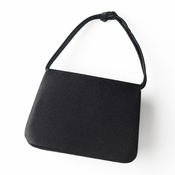 Lovely Black Satin Evening Bag 221