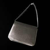 Lovely Metallic Silver Satin Evening Bag 221