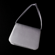 Lovely Silver Satin Evening Bag 221