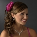 Elegant Peony Fuchsia Flower Hair Clip - Clip 409 ***Discontinued***