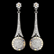 * Captivating Modern AB Crystal Earrings E 942