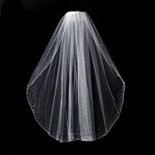 "Veil 139 1E - Single Layer Elbow Length w/Crystals (30"" Long)"