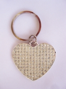White Glitter Key Ring 83610