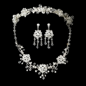 Swarovski Crystal Bridal Jewelry & Tiara Set (Silver or Gold)6522 & 7820 * Only available in Gold