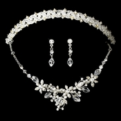 Swarovski Crystal Bridal Jewelry & Tiara Set