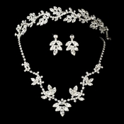 Crystal Bridal Necklace Earring & Tiara Set