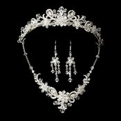 Swarovski Crystal Silver Bridal Jewelry & Tiara Set 7821