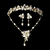 Swarovski Crystal Bridal Necklace Earring  8262 & Tiara Set 8147
