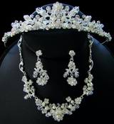 Couture Crystal Matching Jewelry & Tiara Set NE 7224 & HP 7052