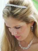 Crystal Tiara Band & Coordinating Jewelry & Tiara Set NE 7600 & HP 6432