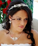 Couture Bridal Headpiece & Jewelry Set HP 7803 & NE 7803