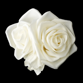 Triple Flower Bridal Hair Clip 412 with Brooch Pin