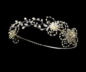 Silver and Freshwater Pearl Circlet HP 7673