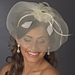* Ivory Headband with Cage Veil Headpiece 4023