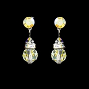 AB Swarovski Crystal Bridal Earrings E 200