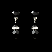 Black Swarovski Crystal Bridal Earrings E 200