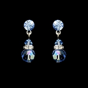 Light Sapphire Swarovski Crystal Bridal Earrings E 200